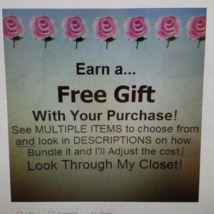 FREE GIFT WITH PURCHASE. EARN, CHOOSE, BUNDLE IT!